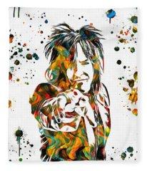 Nikki Sixx Paint Splatter Fleece Blanket