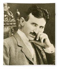 Nikola Tesla, Serbian-american Inventor Fleece Blanket