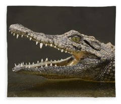 Nile Crocodile Fleece Blanket