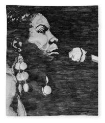 Nina Simone Fleece Blanket