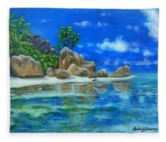 Nina's Beach Fleece Blanket