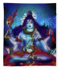 Nirvikalp Samadhi Kapali Shiva Fleece Blanket