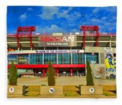 Nissan Stadium Home Of The Tennessee Titans Fleece Blanket