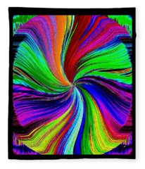 No Color Unturned Fleece Blanket