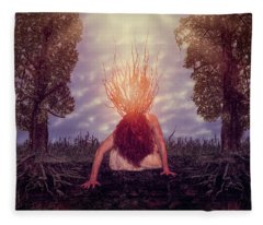 No Earthly Roots Fleece Blanket