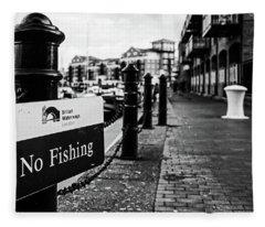No Fishing Fleece Blanket