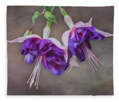 Purple Fuchsia Fleece Blanket