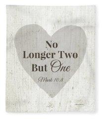 No Longer Two- Art By Linda Woods Fleece Blanket
