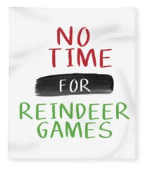 No Time For Reindeer Games- Art By Linda Woods Fleece Blanket