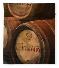No Wine Before It's Time - Barrels-chateau Meichtry Fleece Blanket