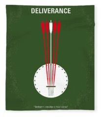 No020 My Deliverance Minimal Movie Poster Fleece Blanket