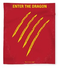 No026 My Enter The Dragon Minimal Movie Poster Fleece Blanket