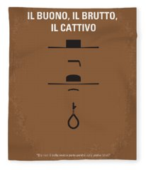 No042 My Il Buono Il Brutto Il Cattivo Minimal Movie Poster Fleece Blanket