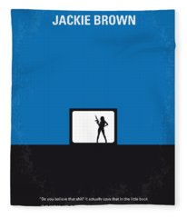 No044 My Jackie Brown Minimal Movie Poster Fleece Blanket