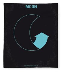 No053 My Moon 2009 Minimal Movie Poster Fleece Blanket