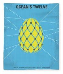 No057 My Oceans 12 Minimal Movie Poster Fleece Blanket