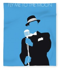No059 My Sinatra Minimal Music Poster Fleece Blanket