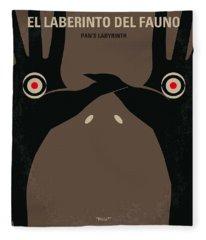 No061 My Pans Labyrinth Minimal Movie Poster Fleece Blanket