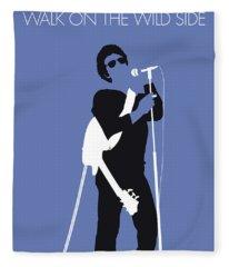 No068 My Lou Reed Minimal Music Poster Fleece Blanket