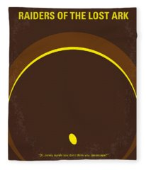 No068 My Raiders Of The Lost Ark Minimal Movie Poster Fleece Blanket