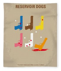 No069 My Reservoir Dogs Minimal Movie Poster Fleece Blanket