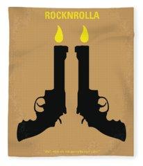 No071 My Rocknrolla Minimal Movie Poster Fleece Blanket