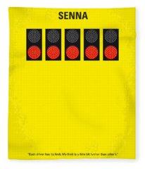 No075 My Senna Minimal Movie Poster Fleece Blanket