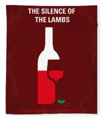 No078 My Silence Of The Lamb Minimal Movie Poster Fleece Blanket