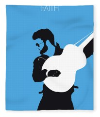 No089 My George Michael Minimal Music Poster Fleece Blanket