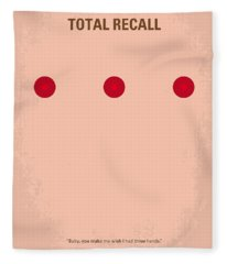 No097 My Total Recall Minimal Movie Poster Fleece Blanket