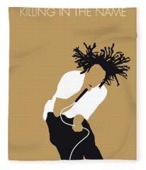 No100 My Rage Against The Machine Minimal Music Poster Fleece Blanket