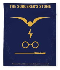 No101-1 My Hp - Sorcerers Stone Minimal Movie Poster Fleece Blanket