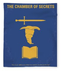 No101-2 My Hp - Chamber Of Secrets Minimal Movie Poster Fleece Blanket
