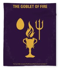 No101-4 My Hp - Goblet Of Fire Minimal Movie Poster Fleece Blanket