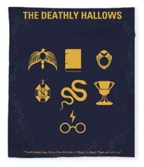 No101-7 My Hp - Deathly Hallows Minimal Movie Poster Fleece Blanket