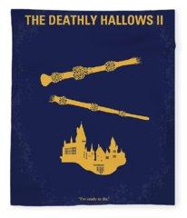 No101-8 My Hp - Deathly Hallows II Minimal Movie Poster Fleece Blanket