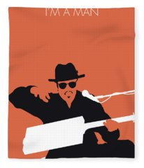 No103 My Bo Diddley Minimal Music Poster Fleece Blanket