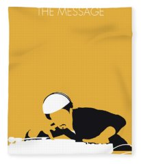 No114 My Grandmaster Flash Minimal Music Poster Fleece Blanket