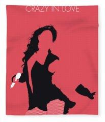 No122 My Beyonce Minimal Music Poster Fleece Blanket