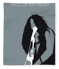 No127 My Janis Joplin Minimal Music Poster Fleece Blanket