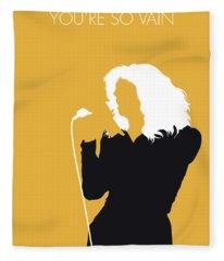 No144 My Carly Simon Minimal Music Poster Fleece Blanket