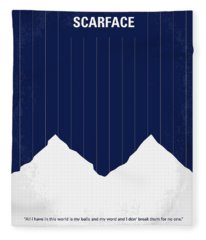 No158 My Scarface Minimal Movie Poster Fleece Blanket