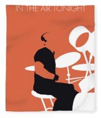 No163 My Phil Collins Minimal Music Poster Fleece Blanket