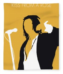 No164 My Seal Minimal Music Poster Fleece Blanket