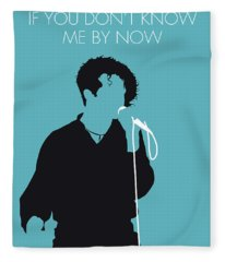 No165 My Simply Red Minimal Music Poster Fleece Blanket