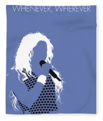 No168 My Shakira Minimal Music Poster Fleece Blanket