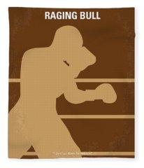 No174 My Raging Bull Minimal Movie Poster Fleece Blanket