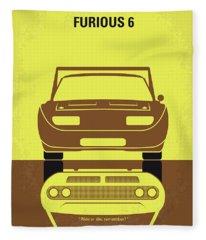 No207-6 My Furious 6 Minimal Movie Poster Fleece Blanket