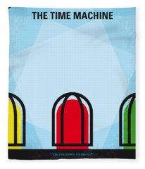 No489 My The Time Machine Minimal Movie Poster Fleece Blanket