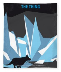 No466 My The Thing Minimal Movie Poster Fleece Blanket
